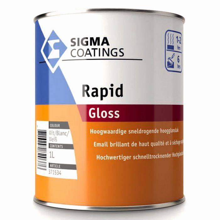 Sigma Rapid Gloss verf voor Hoogglans / High Gloss, Houtverf, Kunststof verf, Metaalverf, Sigma (Beits, Buiten, Oplosmiddelhoudend, Sigma) natuurlijk bij Verfgilde, beste Verf lage Prijs