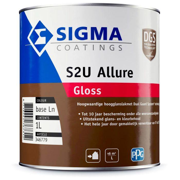 Sigma S2U Allure Gloss verf voor Hoogglans / High Gloss, Houtverf, Kunststof verf, Metaalverf, Sale, Sigma (Buiten, Oplosmiddelhoudend, Sigma) natuurlijk bij Verfgilde, beste Verf lage Prijs