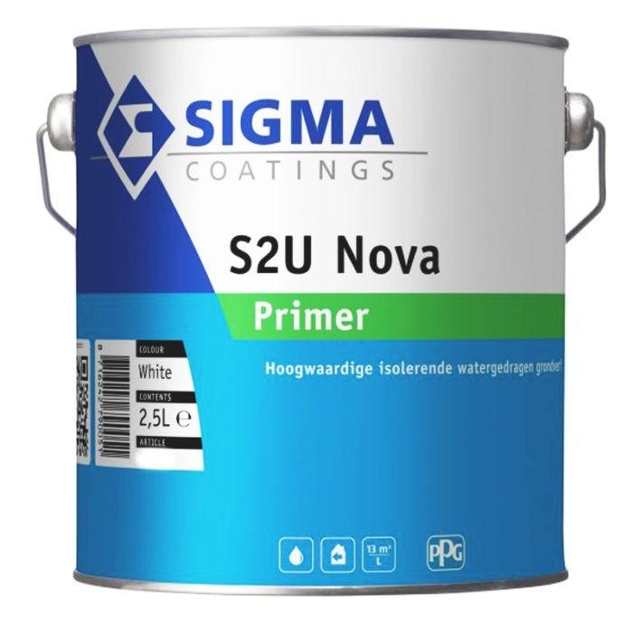 Sigma S2U Nova Primer verf voor Houtverf, Sigma (Binnen, Grondverf en Primer, Sigma, Watergedragen) natuurlijk bij Verfgilde, beste Verf lage Prijs