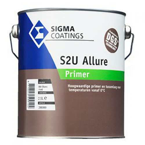 Sigma S2U Allure Primer verf voor Houtverf, Kunststof verf, Metaalverf, Sigma (Buiten, Grondverf en Primer, Oplosmiddelhoudend, Sigma) natuurlijk bij Verfgilde, beste Verf lage Prijs