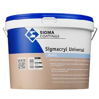 Sigma Sigmacryl Universal Matt verf voor Betonverf, Sigma (Binnen, Sigma, Watergedragen) natuurlijk bij Verfgilde, beste Verf lage Prijs