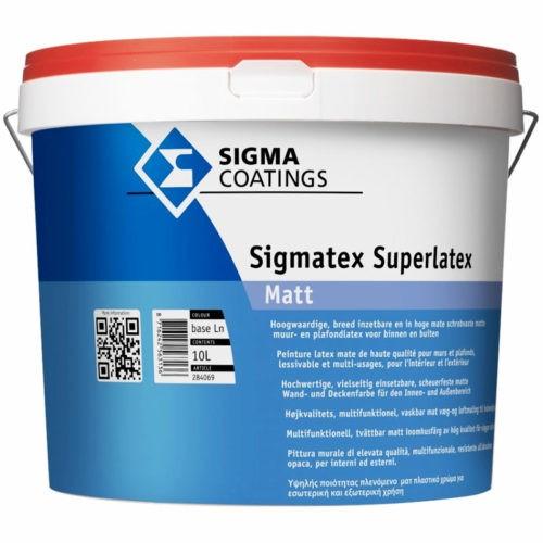 Sigma Sigmatex Superlatex Matt verf voor Betonverf, Sigma (Binnen, Sigma, Watergedragen) natuurlijk bij Verfgilde, beste Verf lage Prijs