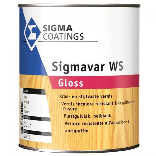 Sigma Sigmavar WS Gloss verf voor Houtverf, Sigma (Beits, Binnen, Sigma, Watergedragen) natuurlijk bij Verfgilde, beste Verf lage Prijs