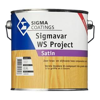 Sigma Sigmavar WS Project Satin (Set) verf voor Houtverf, Sigma (Beits, Binnen, Sigma, Watergedragen) natuurlijk bij Verfgilde, beste Verf lage Prijs