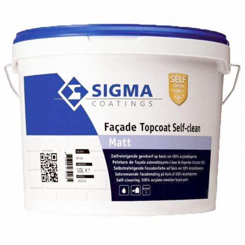 Facade Topcoat Self-Clean Matt (Sigma) verf voor Betonverf (Buiten, Sigma, Watergedragen) natuurlijk bij Verfgilde, beste Verf lage Prijs