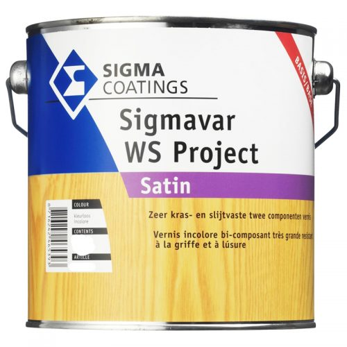 Sigma Sigmavar WS Project Satin (Set) verf voor Houtverf, Sigma, Zijdeglans / Satin (Beits, Binnen, Sigma, Watergedragen) natuurlijk bij Verfgilde, beste Verf lage Prijs