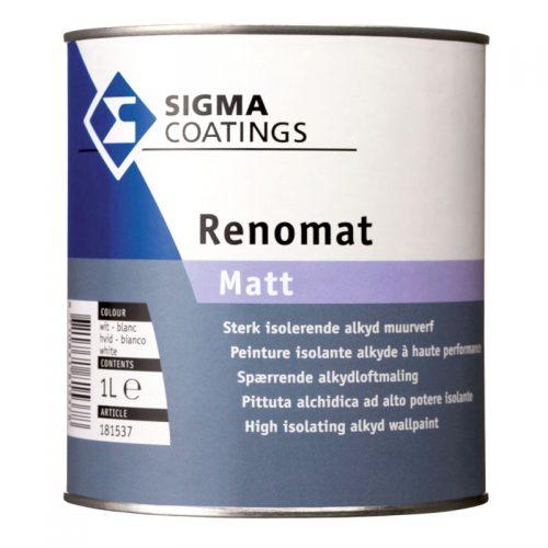 Sigma Renomat Matt verf voor Betonverf (Buiten, Oplosmiddelhoudend, Sigma) natuurlijk bij Verfgilde, beste Verf lage Prijs