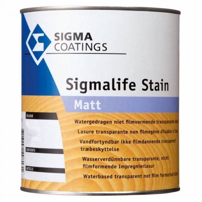 Sigma Sigmalife Stain Matt verf voor Houtverf, Sigma (Beits, Buiten, Oplosmiddelhoudend, Sigma) natuurlijk bij Verfgilde, beste Verf lage Prijs