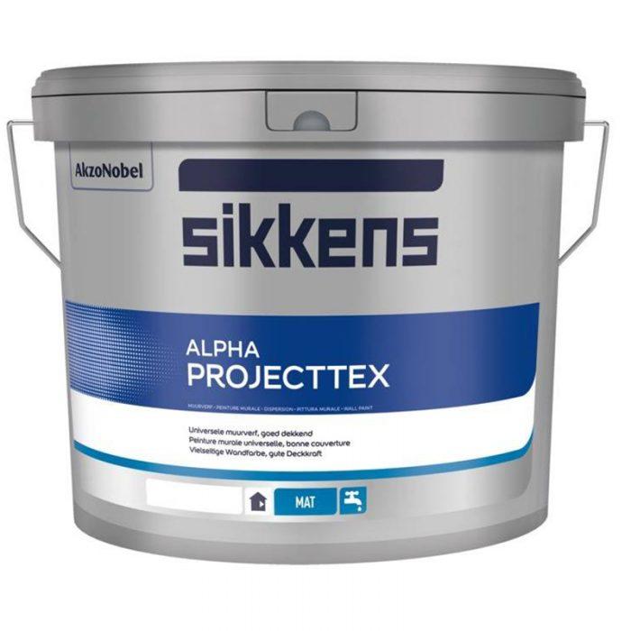 Sikkens Alpha Projecttex verf voor Betonverf, Sikkens (Binnen, Sikkens, Watergedragen) natuurlijk bij Verfgilde, beste Verf lage Prijs