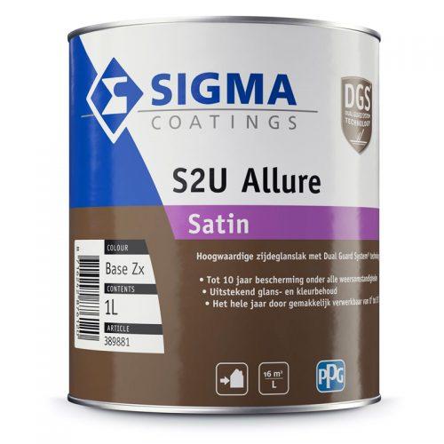 Sigma S2U Allure Satin verf voor Houtverf, Kunststof verf, Metaalverf, Sigma, Zijdeglans / Satin (Buiten, Oplosmiddelhoudend, Sigma) natuurlijk bij Verfgilde, beste Verf lage Prijs