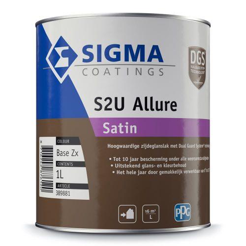 Sigma S2U Allure Satin verf voor Houtverf, Kunststof verf, Metaalverf (Buiten, Oplosmiddelhoudend, Sigma) natuurlijk bij Verfgilde, beste Verf lage Prijs