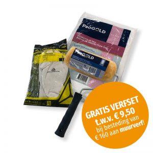 Gratis verfset bij besteding van € 160 aan muurverf