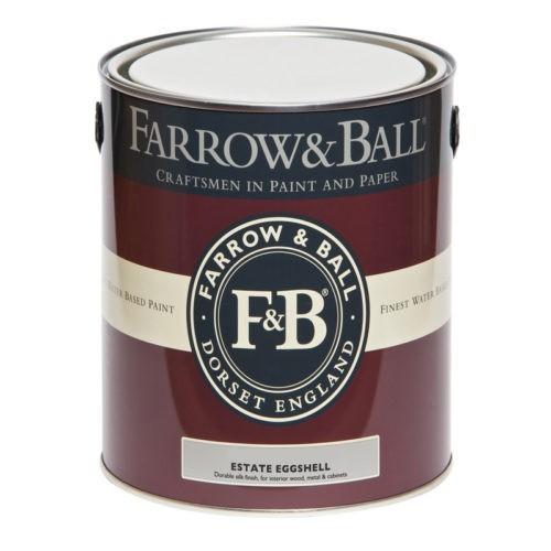Farrow & Ball - Estate Eggshell verf voor Farrow & Ball verf, Houtverf, Mat / Matt (Binnen, Farrow & Ball, Watergedragen) natuurlijk bij Verfgilde, beste Verf lage Prijs