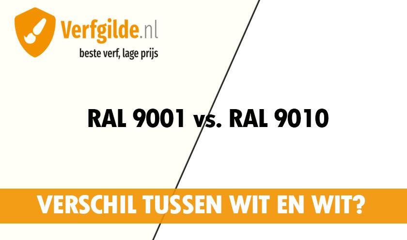 Verschil RAL 9010 en RAL 9001 deuren kozijnen en muren