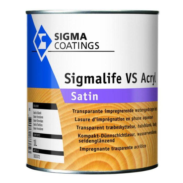 Sigma Sigmalife VS Acryl Satin verf voor Houtverf, Sigma (Beits, Binnen, Buiten, Sigma, Watergedragen) natuurlijk bij Verfgilde, beste Verf lage Prijs