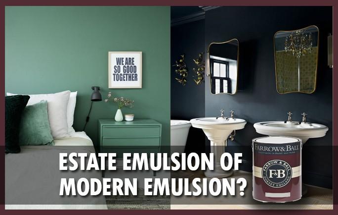 Verschil Estate Emulsion en Modern Emulsion, Farrow and ball