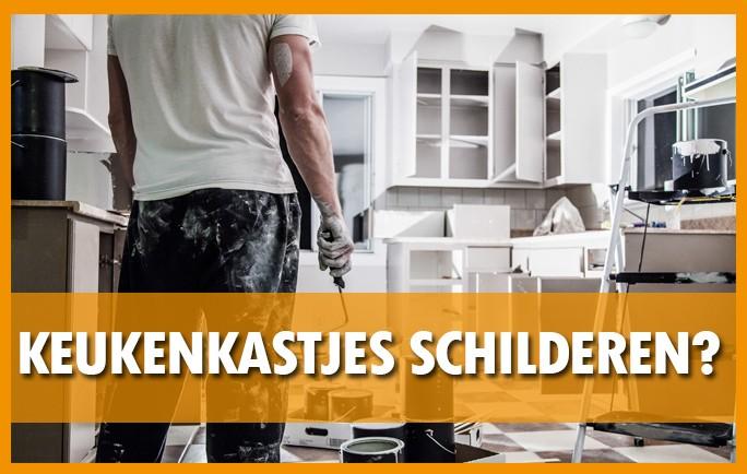 keukenkast schilder met verf