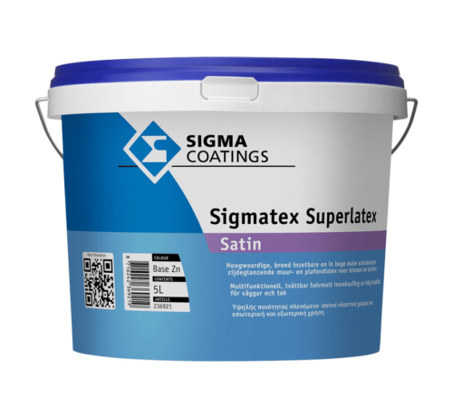 Sigma Sigmatex Satin verf voor Betonverf, Sigma (Binnen, Buiten, Sigma, Watergedragen) natuurlijk bij Verfgilde, beste Verf lage Prijs
